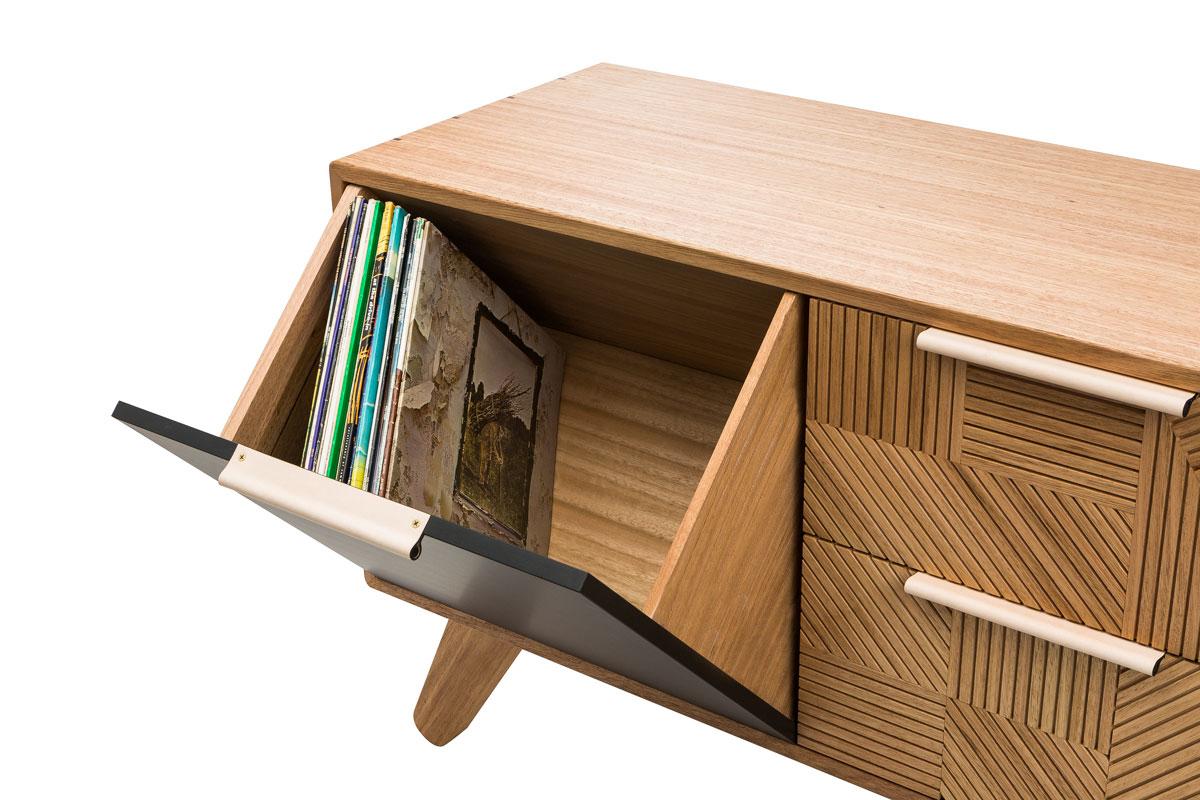 Kithe Hendrix Record Cabinet Front corner