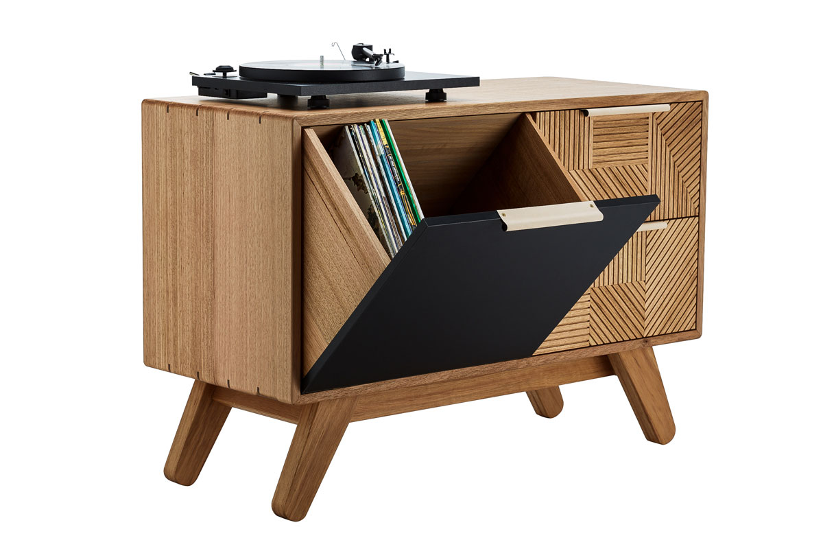 Kithe Hendrix Record Cabinet open