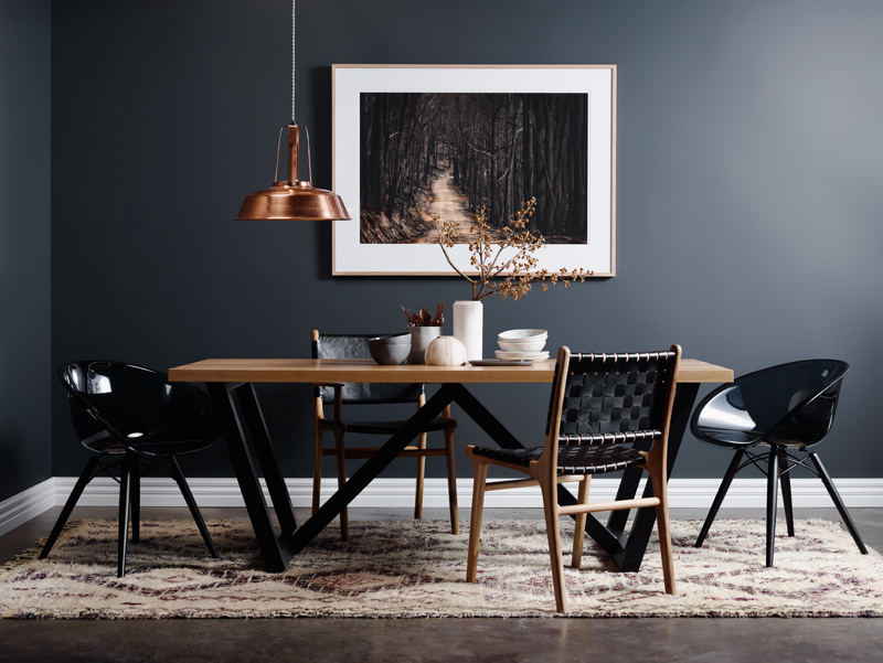 hardwood timber wooden dining table steel metal legs melbourne