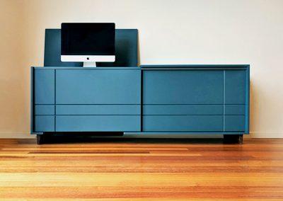 Kithe Blue Sideboard computer desk
