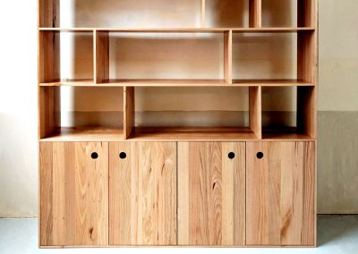 Kithe Wormy Chestnut Bookcase Cupboard Sideboard