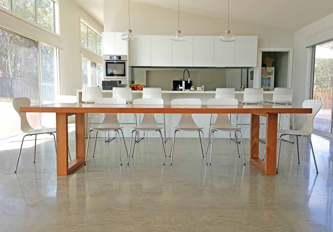 Large Long Custom Made Dining Table Melbourne