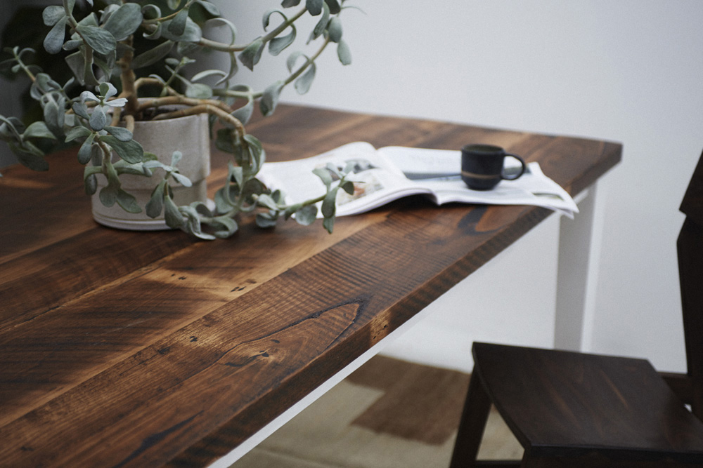 Rustic recycled timber dining table