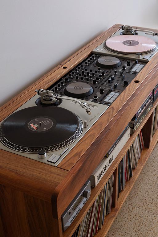 Blackwood record vinyl dj turntable cabinet