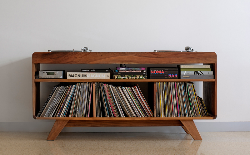 dj record player cabinet console melbourne timber