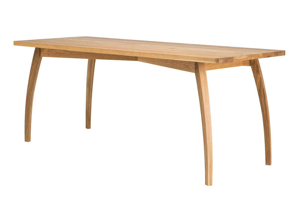 Kithe Oak Dining Table angle