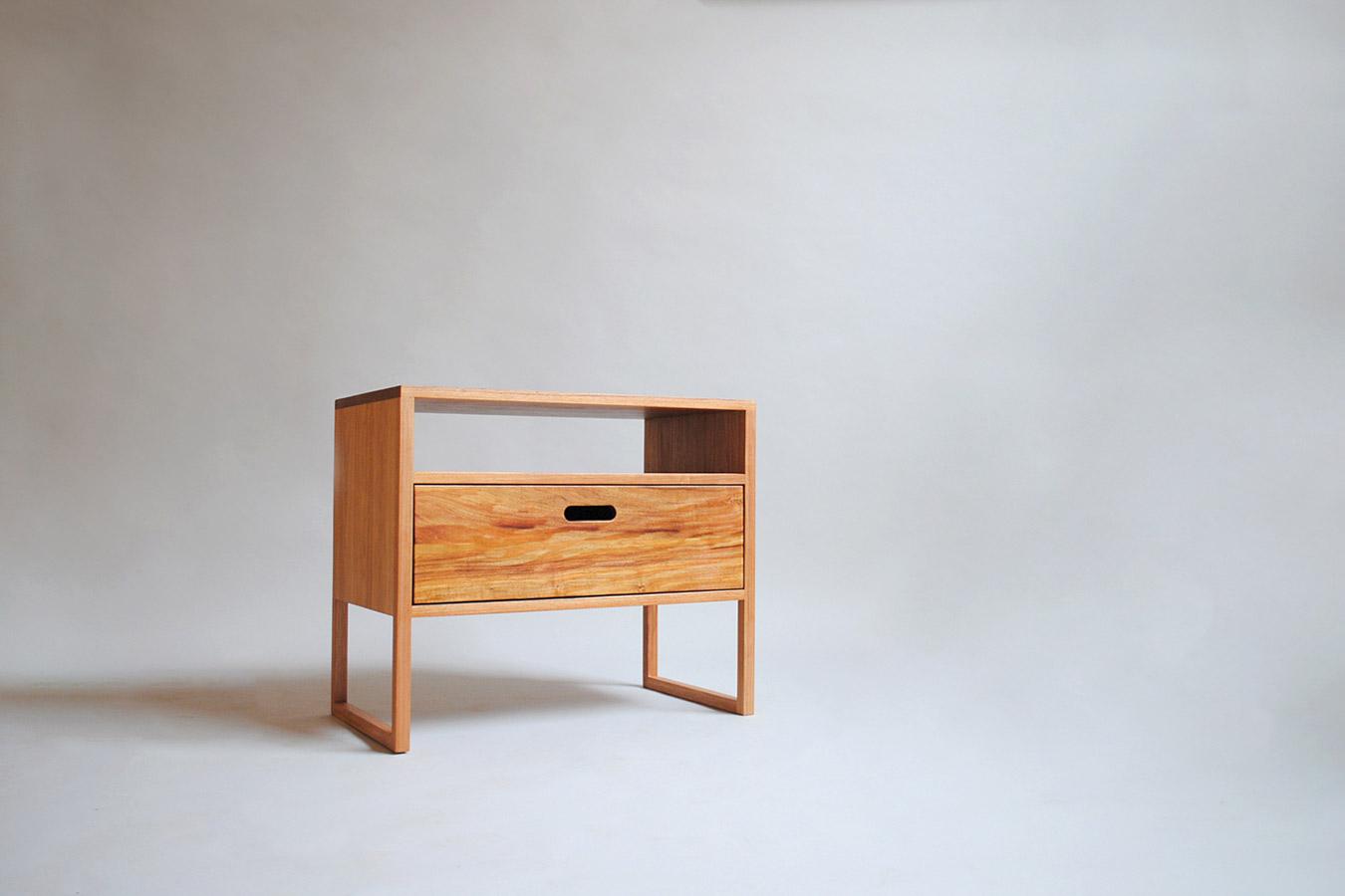 blackwood timber bedside table drawer
