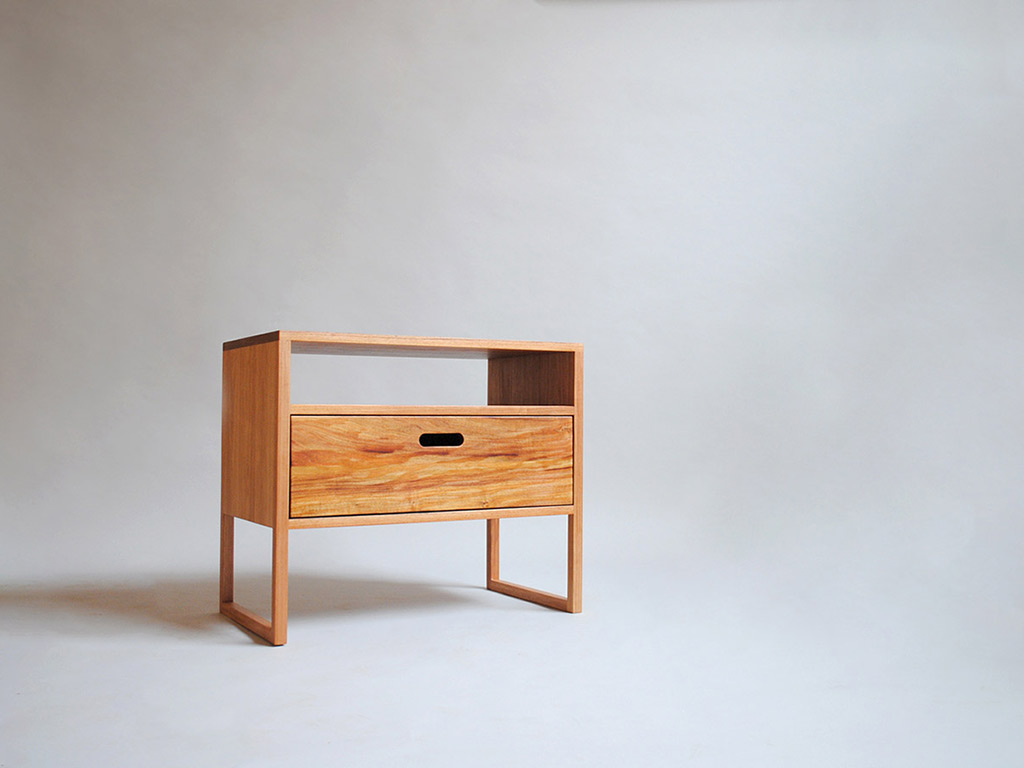 blackwood timber bedside table drawer
