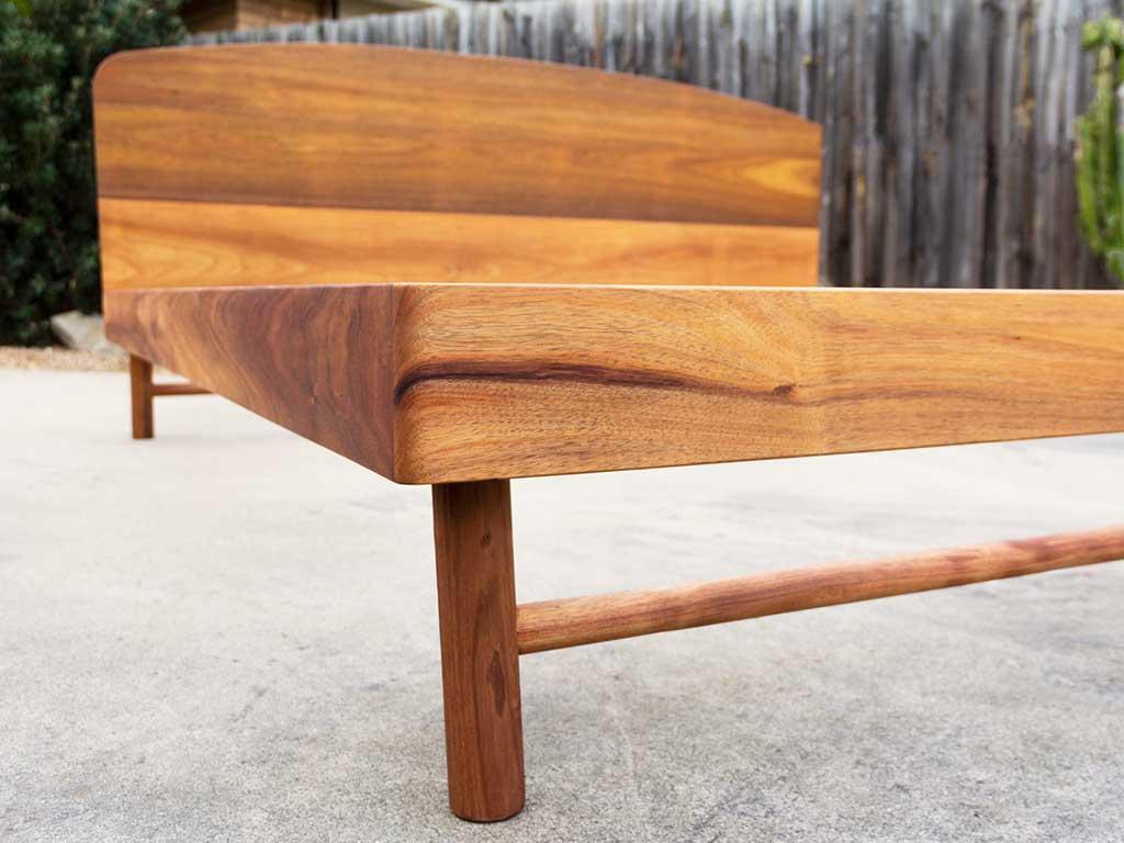 custom made blackwood timber bedframe melbourne