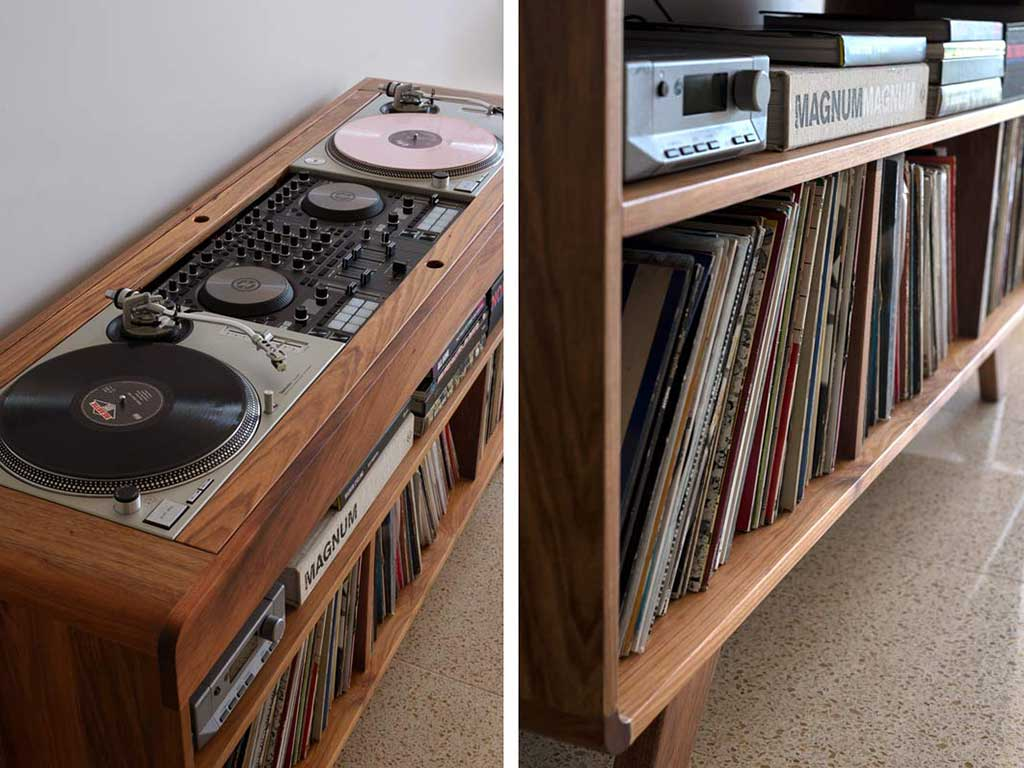 dj and turntable furniture racks