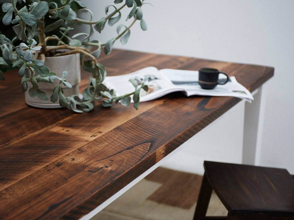Custom-Rustic-recycled-timber-dining-table